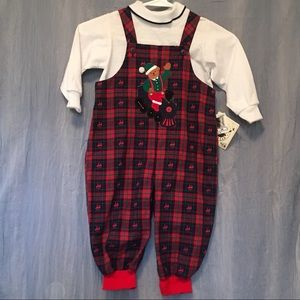 Vintage Goodlad plaid holiday romper